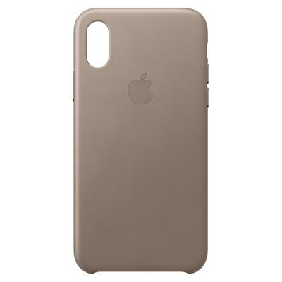 Apple Leren hoesje voor iPhone XS - Taupe mobile phone case