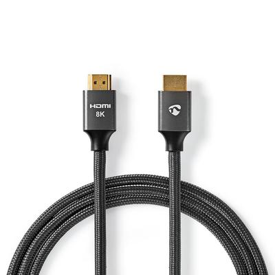 Nedis Ultra High Speed HDMI™-Kabel, HDMI™-Connector - HDMI™-Connector, Gun Metal Grey, Gevlochten Kabel, 1,0 .....