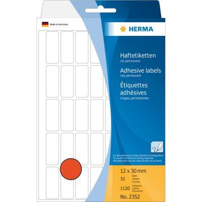 Herma etiket: Universele etiketten 12x30mm rood voor handmatige opschriften 1120 St.