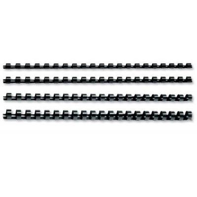 5star inbinder: Binding Combs Plastic 21 Ring, 25 Sheets, A4, 6mm, Black - Zwart