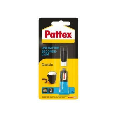 Pattex lijm: Secondelijm Classic - Zwart, Blauw