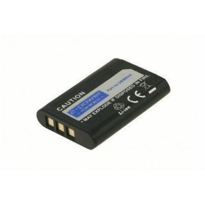 2-power batterij: Digital Camera Battery, Li-Ion, 3.7V, 680mAh, Black - Zwart