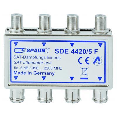 Spaun signaalversterker TV: SDE 4420/5 F - Geborsteld staal