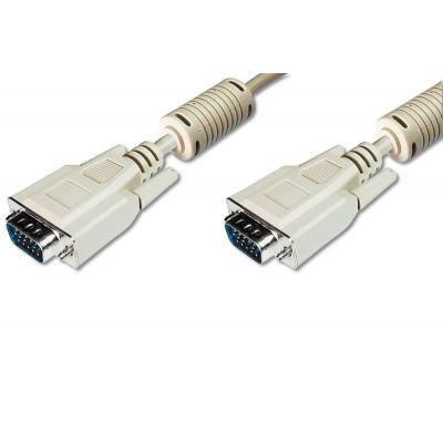 Digitus VGA - VGA M/M 5 m VGA kabel  - Beige