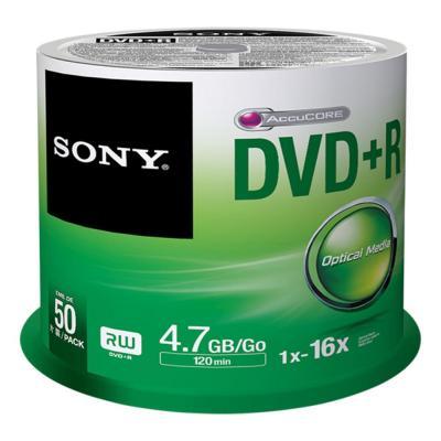 Sony DVD: 16X DVD+R, geleverd in een spindle boxverpakking van 50 stuks. Ideaal voor het snel opnemen en eenvoudig .....