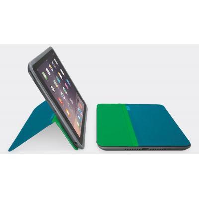 Logitech tablet case: AnyAngle Cover Cyaan voor  iPad Air 2 - Cyaan, Groen