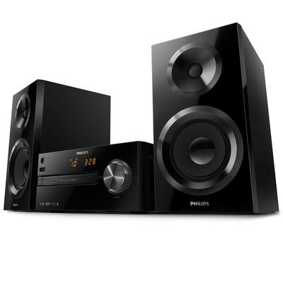 Philips 70W RMS, FM, MP3, CD/CD-R/CD-RW, 220x231x104mm, 5.3kg, Zwart Home stereo set