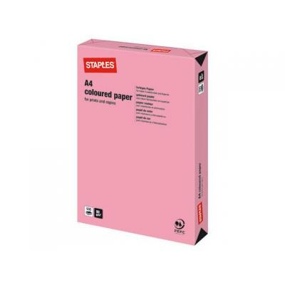 Staples papier: Papier SPLS A4 80g roze/pak 500v