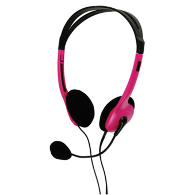 BasicXL Draagbare stereo roze Headset