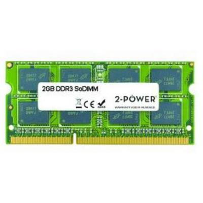 2-power RAM-geheugen: 2GB DDR3 SR SoDIMM - Groen