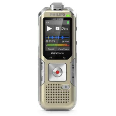 Philips Voice Tracer DVT6510 Voice recorder - Champagne, Zilver
