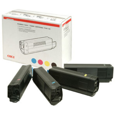 OKI toner: Toner 4c 5000sh f C5100n C5300n - Zwart, Cyaan, Magenta, Geel
