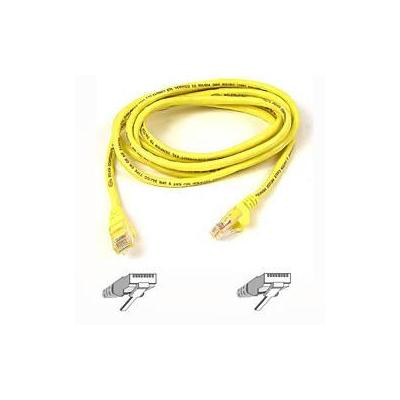 Belkin kabel: Cable patch CAT5 RJ45 snagless 3m yellow