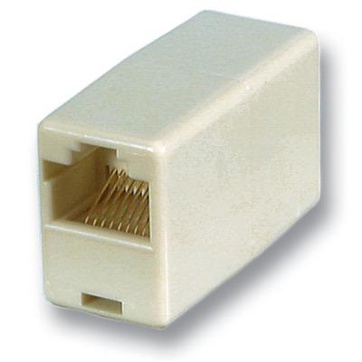EFB Elektronik Modular Adapter, 2 x RJ-45, F/F, UTP Kabel adapter - Beige