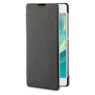 Roxfit Folio Book Case Black for Sony Xperia E5 Mobile phone case - Zwart, Transparant