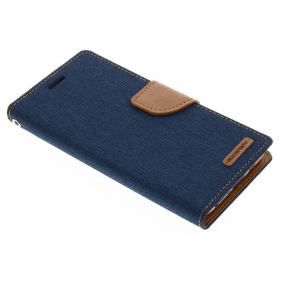 Canvas Diary Booktype Samsung Galaxy J5 (2016) - Blauw Mobile phone case