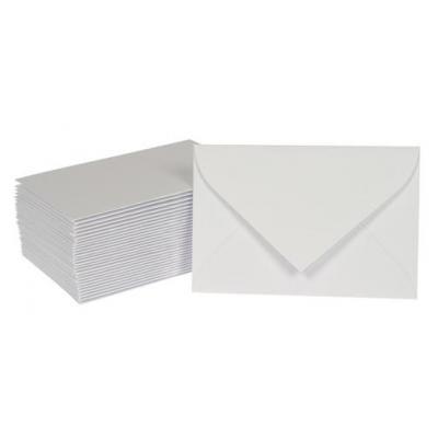 Gallery envelop: Ft 95 x 145 mm, 50 stuks - Wit