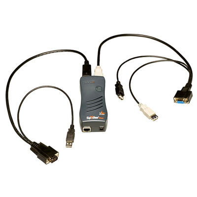 Lantronix SecureLinx SpiderDuo KVM switch - Zwart