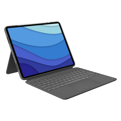 Logitech Combo Touch for iPad Pro 12.9-inch (5th generation) - QWERTY Mobile device keyboard - Grijs