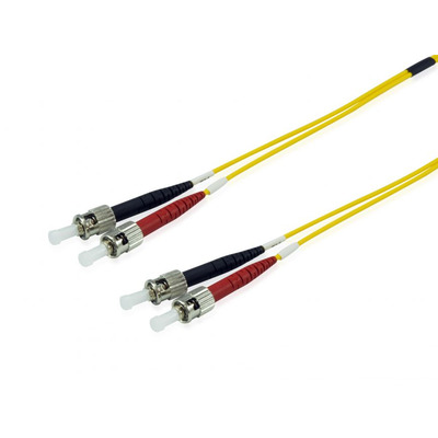 Equip ST/ ST Optical Fiber Patch Cord, OS2, 9/125μm, 3.0m Fiber optic kabel - Geel
