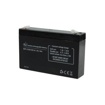 Hq UPS batterij: Lead-Acid 6V 7.2Ah - Zwart