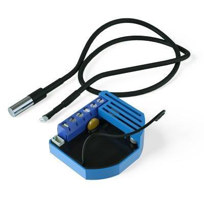 Qubino thermostaat: Flush PWM Thermostat - Zwart, Blauw