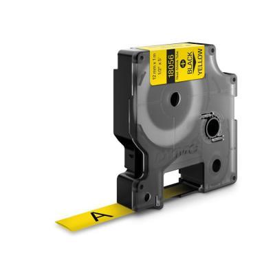 Dymo labelprinter tape: 12mm RhinoPRO Heat shrink tubes - Zwart op geel