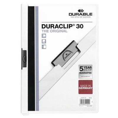 Durable Duraclip 30 Stofklepmap - Transparant, Wit