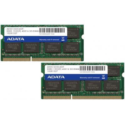 Adata RAM-geheugen: AD3S1333C4G9-2, 2 x 4GB DDR3 133MHz