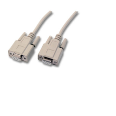 Microconnect DSub 9, RS232, 2m Seriele kabel - Beige