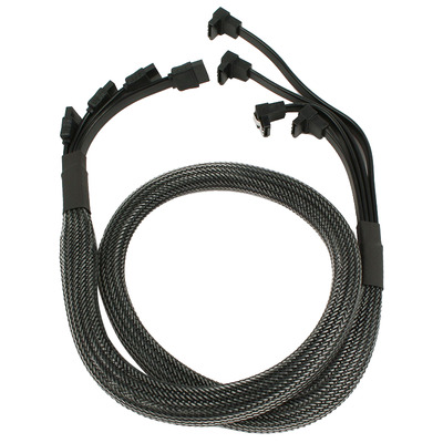 Nanoxia NXS6GCA ATA kabel - Koolstof