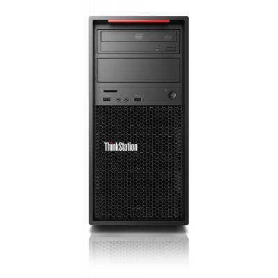 Lenovo ThinkStation P520c + ThinkVision P27h monitor (bundel) Pc - Zwart