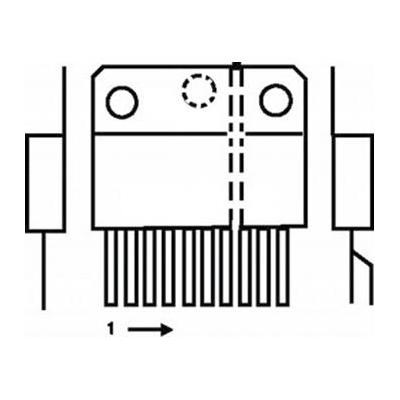 St-microelectronics  component: 18 W 22 V audio ampl. vert.