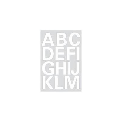 Herma etiket: Letters 25mm A-Z film weatherproof white 2 sheets