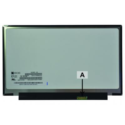 2-power notebook reserve-onderdeel: 12.5 1366x768 WXGA HD LED Matte Screen - replaces HB125WX1-200 - Zwart