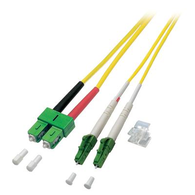 EFB Elektronik Duplex Jumper LC/APC-SC/APC 8° 9/125µ, OS2 Fiber optic kabel - Geel