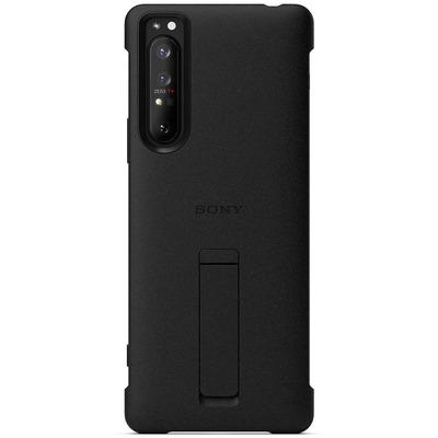 Style Cover Stand Xperia 1 II - Zwart - Zwart / Black Mobile phone case