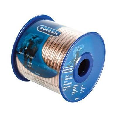 Bandridge 1.5 mm² loudspeaker cable 30.0 m transparent - Goud
