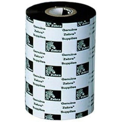 Zebra printerlint: 2300 Wax 110mm x 300m - Zwart