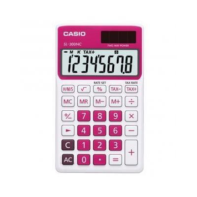 Casio calculator: SL-300NC - Rood, Wit