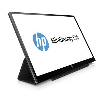 "HP EliteDisplay S14 14"" Full HD IPS Portable Monitor - Zwart"