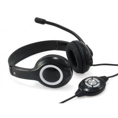 Conceptronic CCHATSTARU2B Headset - Zwart, Rood