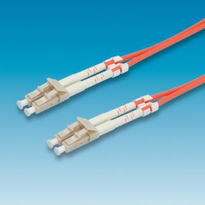 ROLINE fibre kabel 62,5/125µm LC/LC, oranje 1,0m Fiber optic kabel