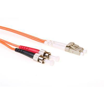 Ewent 2 meter LSZH Multimode 50/125 OM2 glasvezel patchkabel duplex met LC en ST connectoren Fiber optic kabel - .....