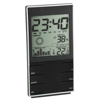 Tfa weerstation: Digital weather station, AAA, 162g, Black - Zwart