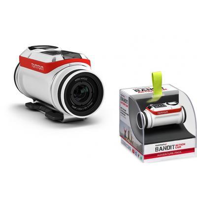 Tomtom actiesport camera: Bandit Action Cam - Zwart, Rood, Wit