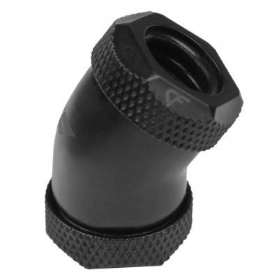Nanoxia CF 30° Hard Tube Adaptor - 2 x 12 mm Ø Cooling accessoire - Zwart