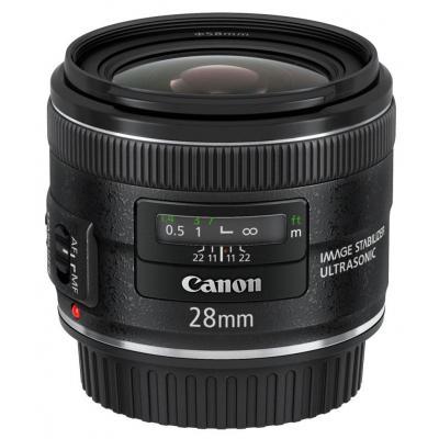 Canon camera lens: EF 28mm f/2.8 IS USM - Zwart