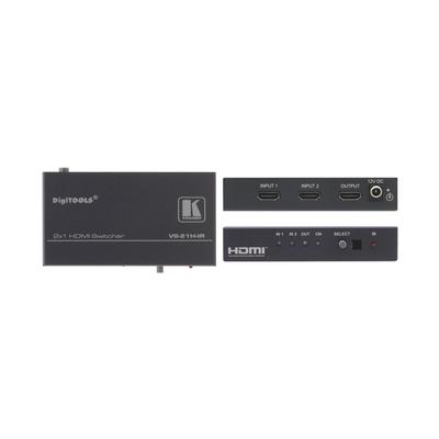 Kramer Electronics Kramer VS-21H-IR Switcher Video switch - Grijs
