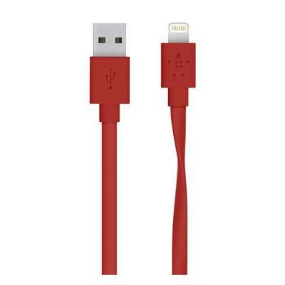 Belkin USB kabel: USB to Lightning, 1.22 m - Rood